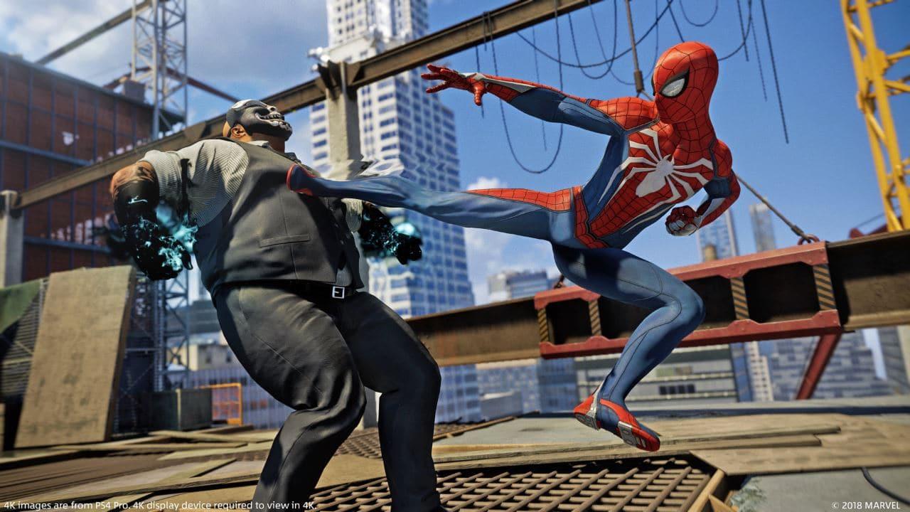 درگیری با دشمنان در بازی مرد عنکبوتی