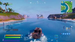 قایق موتوری در فورتنایت 2